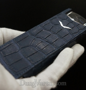 BAO DA VERTU SIGNATURE S Navy Alligator Handmade